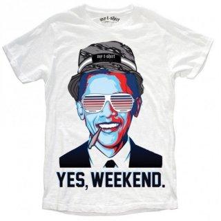 日本未入荷 イタリア発 MY T-SHIRT  Tシャツ YES, WEEKWEND バラクオバマ フォト パロディー プリント 関税込 セレブ愛用 LEON