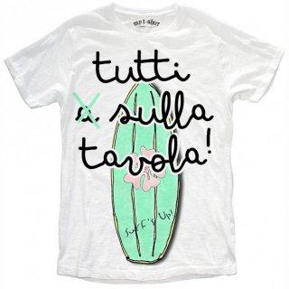 日本未入荷 イタリア発 MY T-SHIRT  Tシャツ TUTTI SULLA TAVOLA  サーフ サーフボード フォト パロディー プリント 関税込 セレブ愛用 LEON