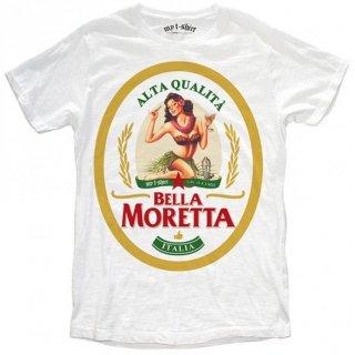 日本未入荷 イタリア発 MY T-SHIRT  Tシャツ MORETTA  アロハ ビール ロゴ フォト パロディー プリント 関税込 セレブ愛用 LEON