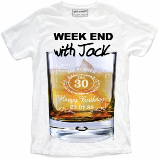日本未入荷 イタリア発 MY T-SHIRT  Tシャツ WEEK END WITH JACK ジャックダニエル  ロゴ フォト パロディー プリント 関税込 セレブ愛用 LEON