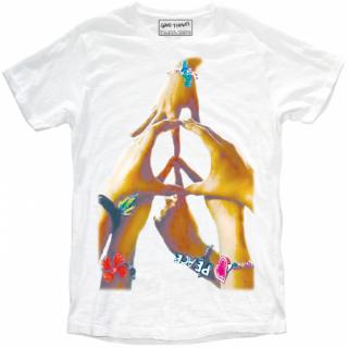 日本未入荷 イタリア発 MY T-SHIRT  Tシャツ PEACE ピースマーク サーフ  ロゴ フォト パロディー プリント 関税込 セレブ愛用 LEON