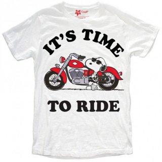 日本未入荷 イタリア発 MY T-SHIRT  Tシャツ TIME TO RIDE ピーナッツ スヌーピー ハーレー ロゴ フォト パロディー プリント 関税込 セレブ愛用 LEON