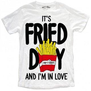 日本未入荷 イタリア発 MY T-SHIRT  Tシャツ FRIED DAY フライドポテト  ロゴ フォト パロディー プリント 関税込 セレブ愛用 LEON