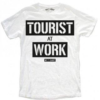 日本未入荷 イタリア発 MY T-SHIRT  Tシャツ TOURIST AT WORK  ロゴ フォト パロディー プリント 関税込 セレブ愛用 LEON