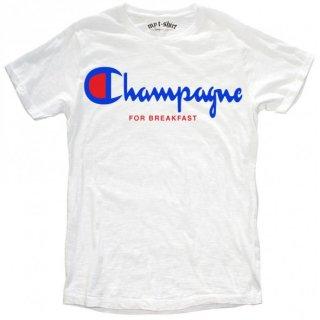 日本未入荷 イタリア発 MY T-SHIRT  Tシャツ CHAMPAGNE FOR BREAKFAST チャンピオン ロゴ フォト パロディー プリント 関税込 セレブ愛用 LEON