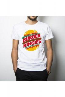 新作 パリ発 kingies キンギーズ BURGER KINGIES バーガーキング ロゴ パロディ フォト  Tシャツ プリント ホワイト  関税込 セレブ愛用