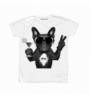 日本未入荷 イタリア発 BFLAK Tシャツ COCKTAIL ドッグ サングラス  ロゴ フォト パロディー プリント  関税込 モデル セレブ愛用