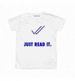 日本未入荷 イタリア発 BFLAK Tシャツ JUST READ IT ナイキ  ロゴ フォト パロディー プリント  関税込 モデル セレブ愛用