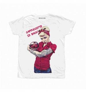 日本未入荷 イタリア発 BFLAK Tシャツ CAPPUCCETTO  ガール バンダナ ロゴ フォト パロディー プリント  関税込 モデル セレブ愛用