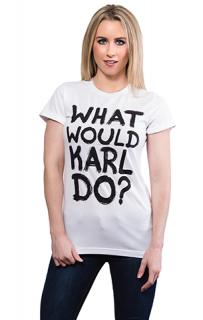 新作  日本未入荷 パロディ socialitte CHANEL シャネル カールラガーフェルド WHAT WOULD KARL DO   Tシャツ ユニセックス   関税込 入手困難