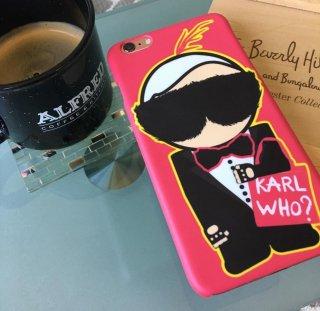 新作  日本未入荷 パロディ socialitte CHANEL シャネル カールラガーフェルド KARL WHO iPhone  アイフォンケース ピンク  関税込 入手困難
