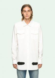 日本未入荷  限定 ヴァージルアブロー着 Off-White オフホワイト  ロゴ プリント スプレー シャツ ホワイト 関税込 カニエウエスト愛用 入手困難