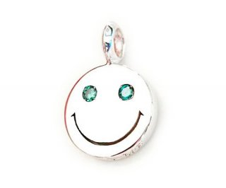 EYEME  Blue Eyes smile Pendant Head Diamond/SILVER925