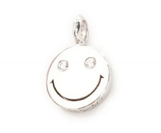 EYEME  White Eyes smile Pendant Head Diamond/SILVER925