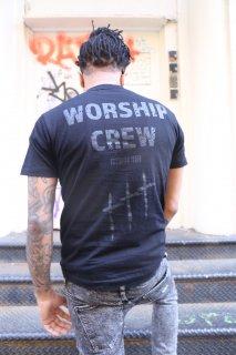 XRISTOFFER クライストファー WORSHIP CREW  ワーシップ クルー ロゴ Tシャツ ブラック