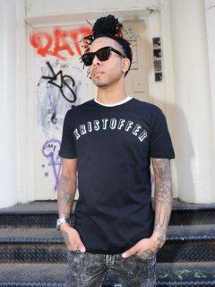 XRISTOFFER クライストファー HI STANDARD BLK×WHT ブランド アーチロゴ Tシャツ ブラック×ホワイト
