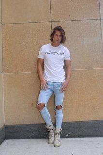 Xristoffer クライストファー XRISTOFFER × XRISTOFFER XOXO ロゴ Tシャツ ホワイト