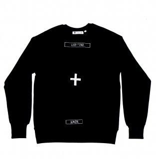 XRISTOFFER クライストファー WHITE CROSS BLACK SWEAT  バック クロス  刺繍 オリジナル  スウェット ブラック