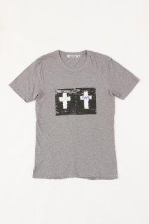 Xristoffer クライストファー WC1 GRY T-SHIRTS ARTIST LINE ダブルクロス アーティストライン Tシャツ グレー