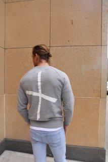 XRISTOFFER クライストファー LORDFUNKS SWEAT バック クロス 刺繍 プリント オリジナル スウェット グレー