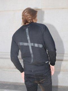 XRISTOFFER クライストファー LORDFUNKS SWEAT  バック クロス  刺繍  プリント オリジナル  スウェット ブラック