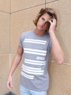 XRISTOFFER クライストファー WAVES ウェイブス ボーダー ロゴ Tシャツ グレー