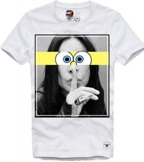 日本未入荷 UK発 E1SYNDICATE イーワンシンジケート Tシャツ OZZY OSBOURNE オジーオズボーン フォト パロディー コラボ プリント  関税込
