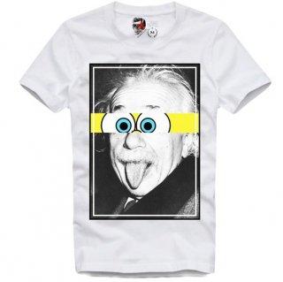 日本未入荷 UK発 E1SYNDICATE イーワンシンジケート Tシャツ EINSTEIN アインシュタイン フォト パロディー コラボ プリント  関税込
