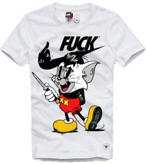 日本未入荷 UK発 E1SYNDICATE イーワンシンジケート Tシャツ ALLEY CAT WH ディズニー ミッキー NIKE ナイキ フォト パロディー コラボ プリント  関税込