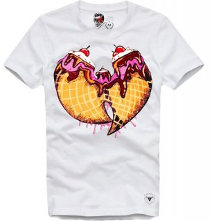 日本未入荷 UK発 E1SYNDICATE イーワンシンジケート Tシャツ WU TANG ICE CREAM ウータンクラン アイス ロゴ フォト パロディー コラボ プリント  関税込