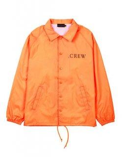 新作 日本未入荷  KNYEW ニュー CREW COACHES JACKET ブランド ロゴ プリント コーチジャケット オレンジ 関税込 モデル セレブ愛用