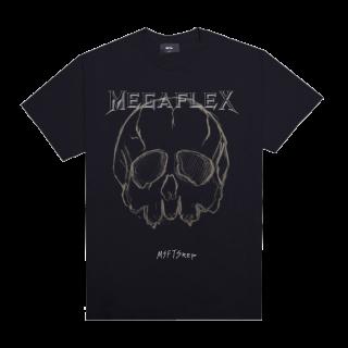 新作 日本未入荷 G-DRAGON愛用 ジャスティンビーバー愛用 MSFTSrep MEGAFLEX スカル プリント  Tシャツ ブラック 関税込 入手困難