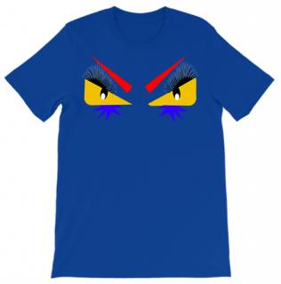 新作 日本未入荷 PINK UZI ピンクウージー EYES MONSTER BLUEI Tシャツ FENDI パロディー フォト プリント 関税込