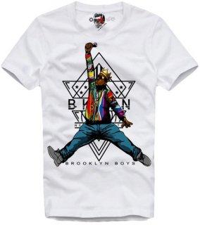 新作 日本未入荷 E1SYNDICATE イーワンシンジケート Tシャツ NOTORIOUS BIG BIGGIE ノトーリアス ジョーダン パロディー フォト コラボ プリント 関税込