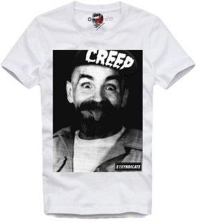 新作 日本未入荷 E1SYNDICATE イーワンシンジケート Tシャツ CHARLES MANSON CREEP チャールズ・マンソン パロディー フォト プリント 関税込
