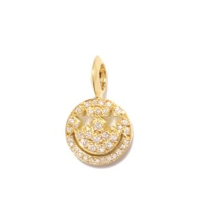 EYEME Star Eyes smile Pendant Head Full Diamond/K18YG