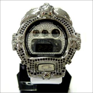 CASIO G-SHOCK カシオ Gショック DW6900NB シルバー925 BLKメッキ 黒白 CZダイヤ 2カラー