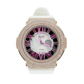 CASIO カシオ Baby-G ベビーG BGA-160-7 腕時計 シルバー925 ピンクゴールドメッキ CZダイヤ 522石