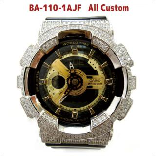 CASIO カシオ Baby-G ベビーG BA-110-1AJF 腕時計 シルバー925 プラチナメッキ CZダイヤ 512石