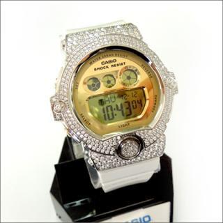 CASIO カシオ Baby-G ベビーG BG-6901 カスタム腕時計 シルバー925 プラチナメッキ CZダイヤ 502石