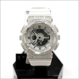 CASIO カシオ Baby-G ベビーG BA-110 腕時計 カスタム シルバー925 プラチナメッキ CZダイヤ 512石