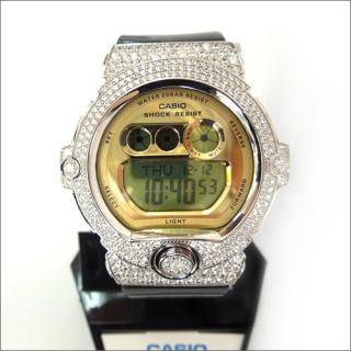 CASIO カシオ Baby-G ベビーG BG-6901 カスタム 腕時計 シルバー925 プラチナメッキ CZダイヤ 502石