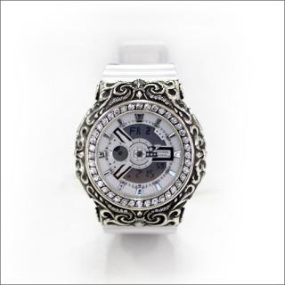 CASIO カシオ Baby-G ベビーG BA-110 オリジナルカスタム 腕時計 クロムハーツ型 シルバー925 CZダイヤ