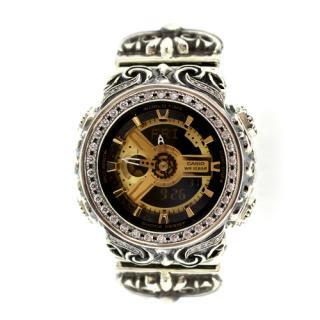 CASIO カシオ Baby-G ベビーG BA-110-1 カスタム 腕時計 クロムハーツ型 シルバー925 CZダイヤ 54石
