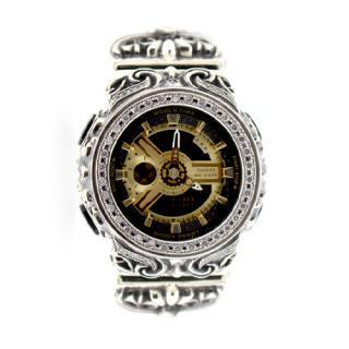 CASIO カシオ Baby-G ベビーG BA-110-1 腕時計 カスタム クロムハーツ型 シルバー925 CZダイヤ 54石