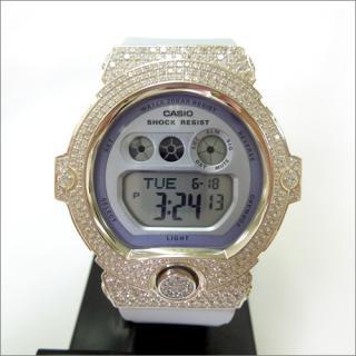 CASIO カシオ Baby-G ベビーG BG 6902-2 カスタム 腕時計 シルバー925 プラチナメッキ CZダイヤ 504石
