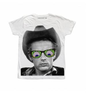 日本未入荷 イタリア発 RUDE Tシャツ ジェームスディーン フォト パロディー プリント オフホワイト  関税込 モデル セレブ愛用