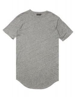 再販 日本未入荷  KNYEW ニュー BASIC E-LONG SCOOP TEE ロング丈 Tシャツ  Heather Grey グレー 関税込 モデル セレブ愛用