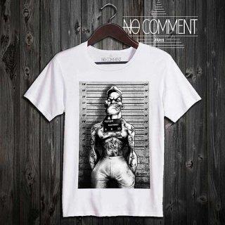 日本未入荷 パリ発 No Comment Paris ポパイ POPEYE フォト パロディ Tシャツ 2型 プリント ホワイト  関税込 モデル セレブ愛用