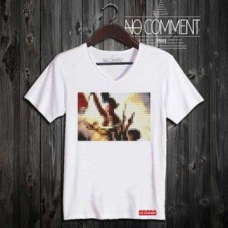 日本未入荷 パリ発 No Comment Paris Révolution française フォト パロディ Tシャツ プリント ホワイト  関税込 モデル セレブ愛用